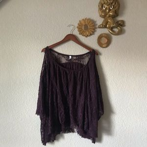 Free People Could Shoulder Lace Blouse